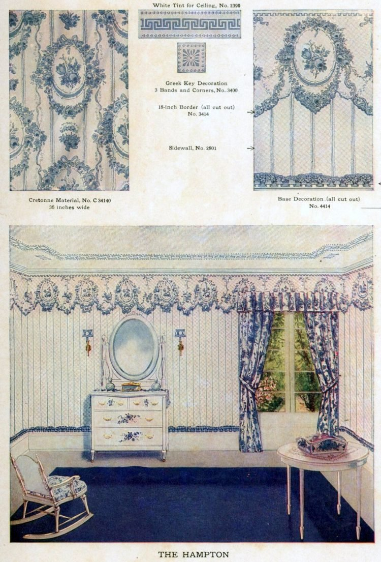 Wallpaper and interior decorating ideas from 1911 (1)