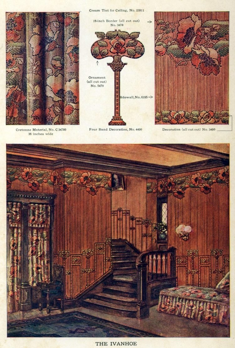 Wallpaper and interior decorating ideas from 1911 (10)