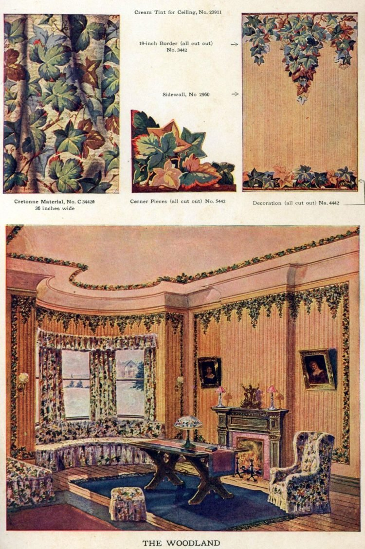 Wallpaper and interior decorating ideas from 1911 (2)