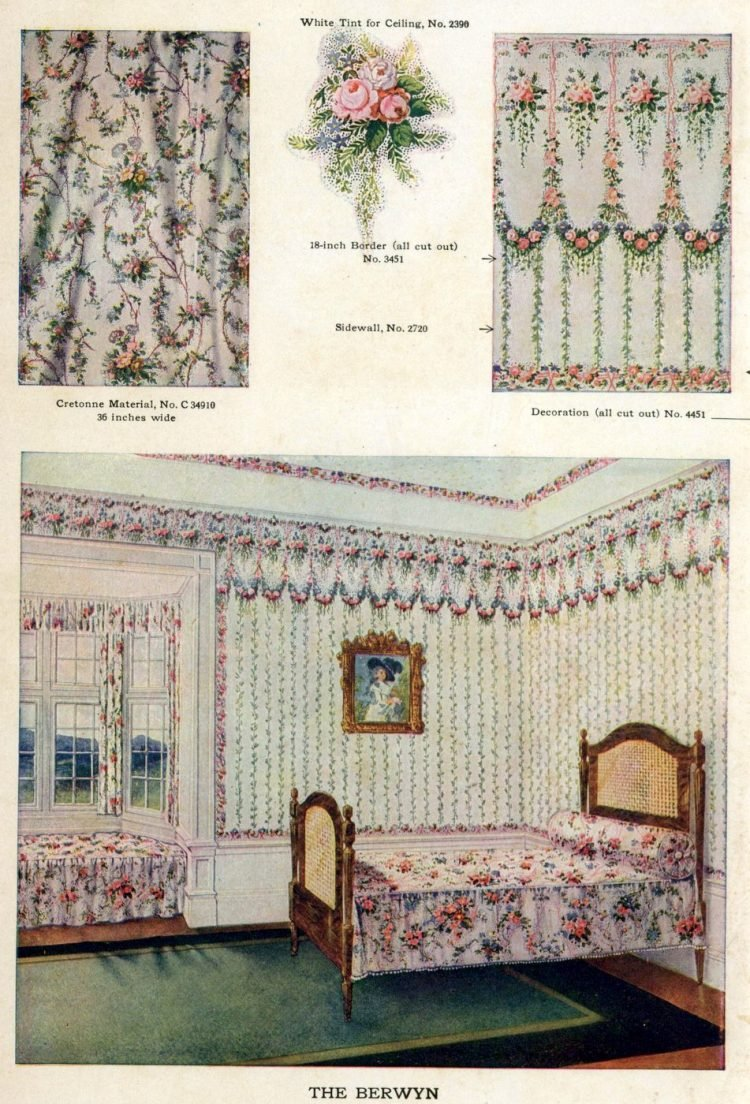 Wallpaper and interior decorating ideas from 1911 (3)