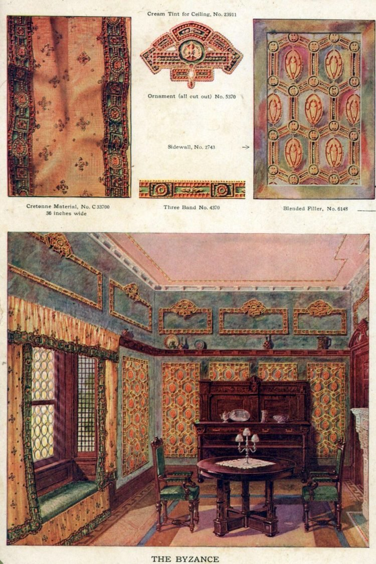 Wallpaper and interior decorating ideas from 1911 (4)