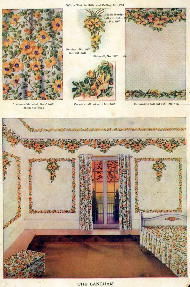 Wallpaper and interior decorating ideas from 1911 (5)