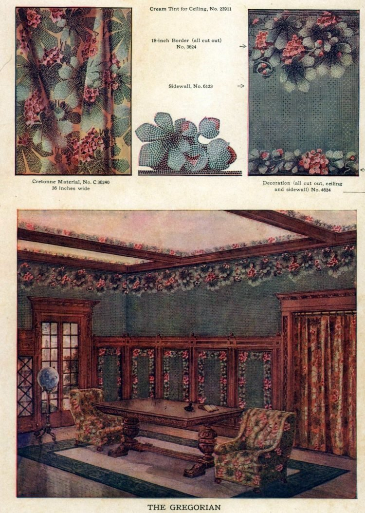 Wallpaper and interior decorating ideas from 1911 (6)