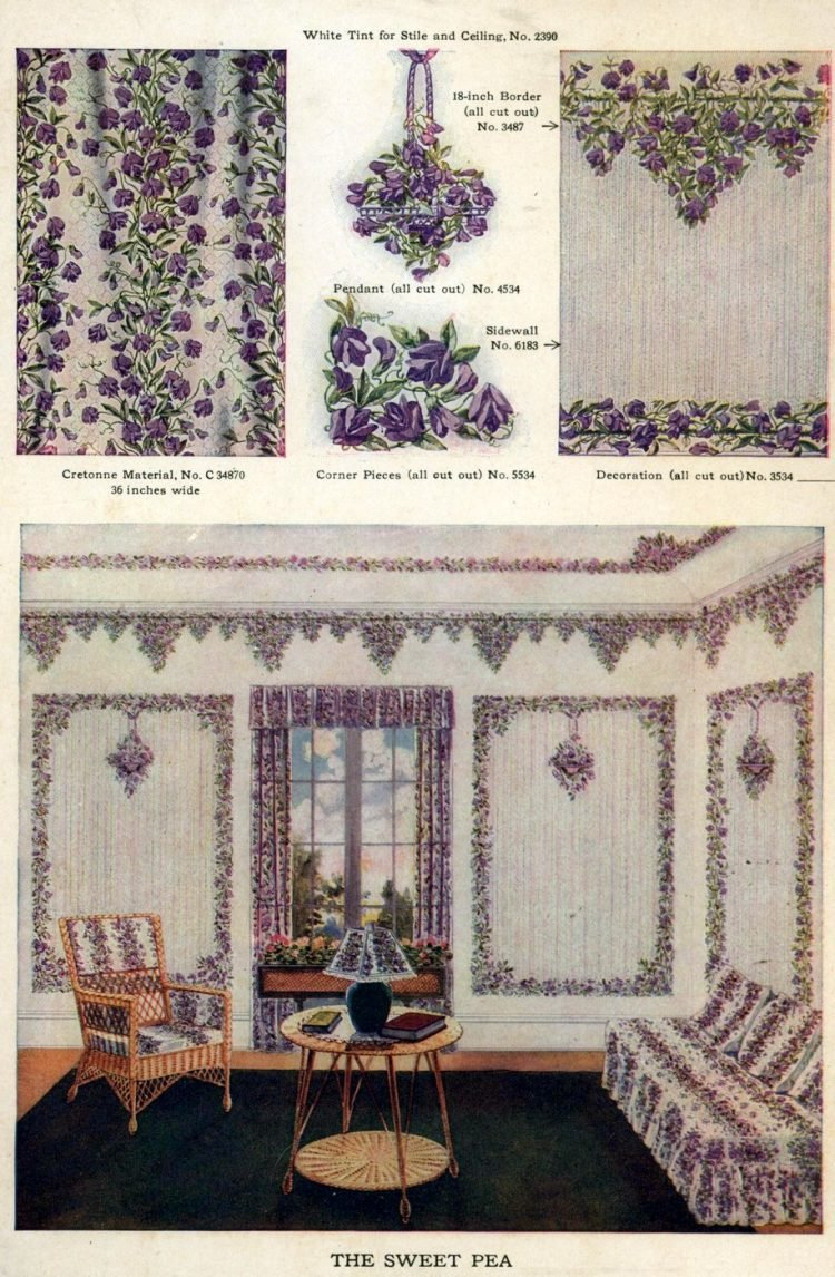 Wallpaper and interior decorating ideas from 1911 (7)