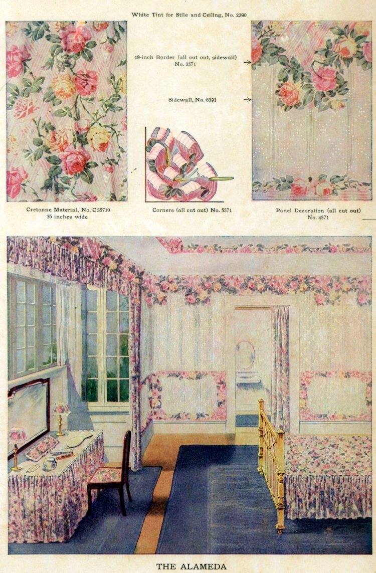 Wallpaper and interior decorating ideas from 1911 (8)