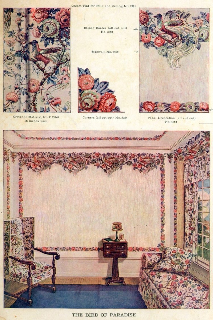 Wallpaper and interior decorating ideas from 1911 (9)