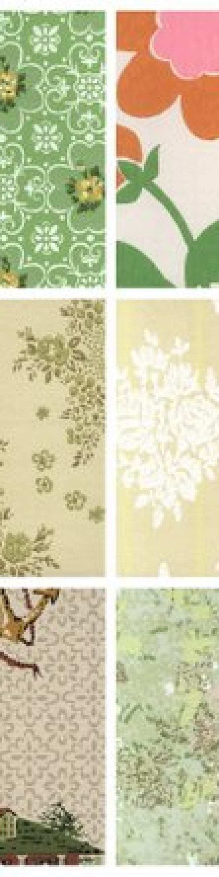 Vintage Home Decorating See 30 Mid Century Wallpapers From The