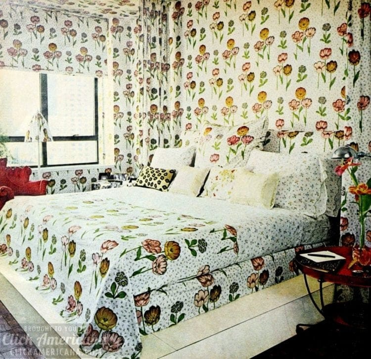 Stay away from dark wallpapers for bedroom ceilings