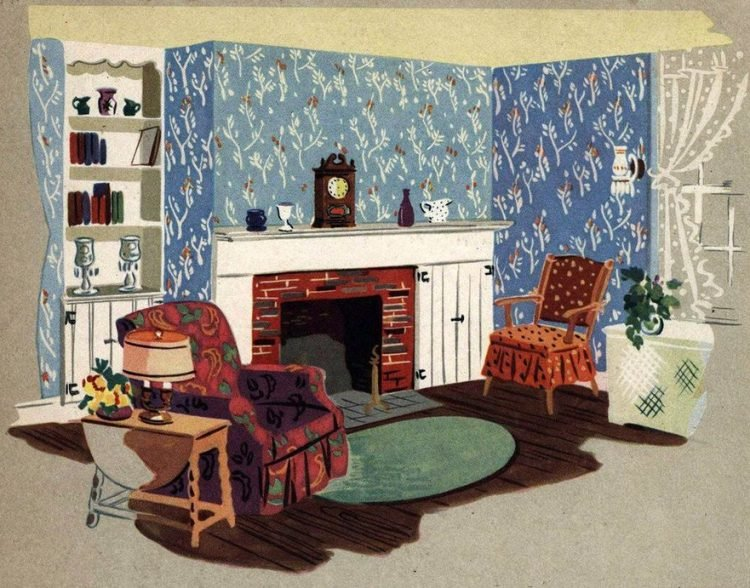 Walls with a fashion future! Vintage wallpaper samples from 1940 (1)