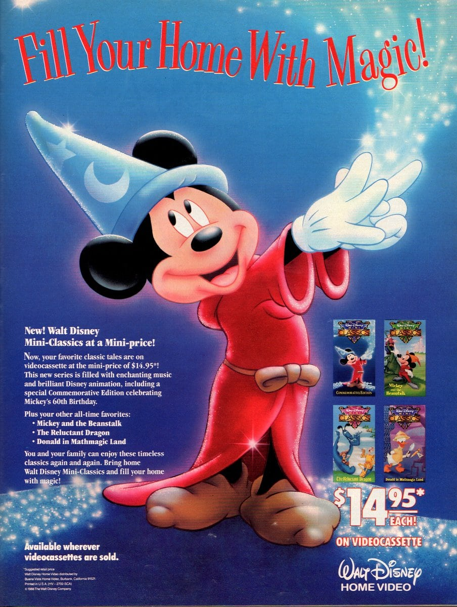 Walt Disney Mini-Classics on videotape (1988)