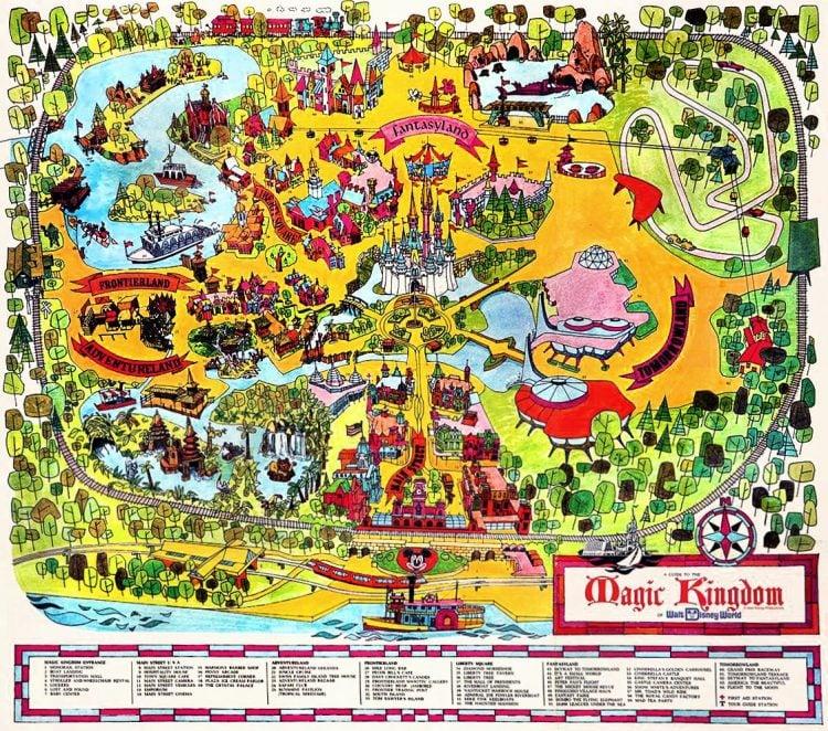 Walt Disney World Magic Kingdom vintage map 1971