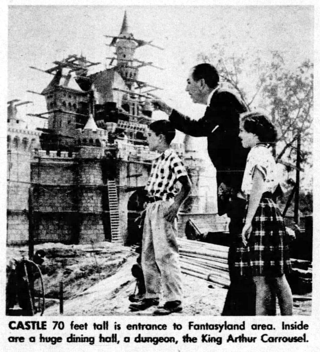 Walt Disney personal tour Vintage Disneyland before opening 1955 (1)
