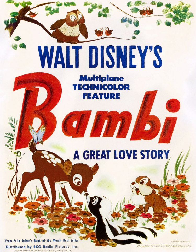 Walt Disney's Bambi movie - A great love story