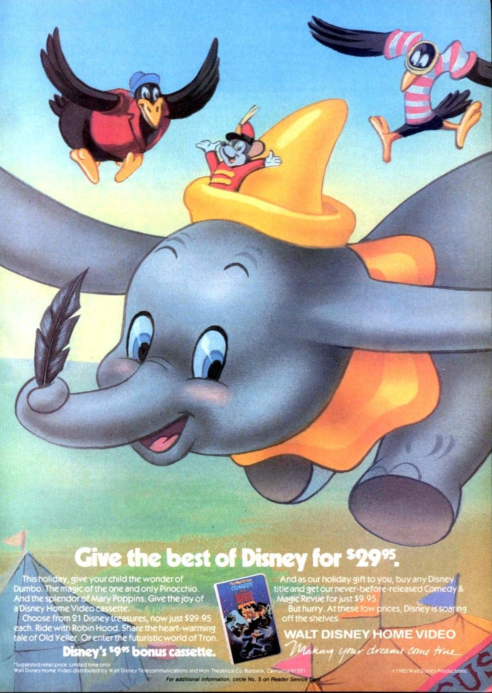 Walt Disney's Dumbo on home video (1985)