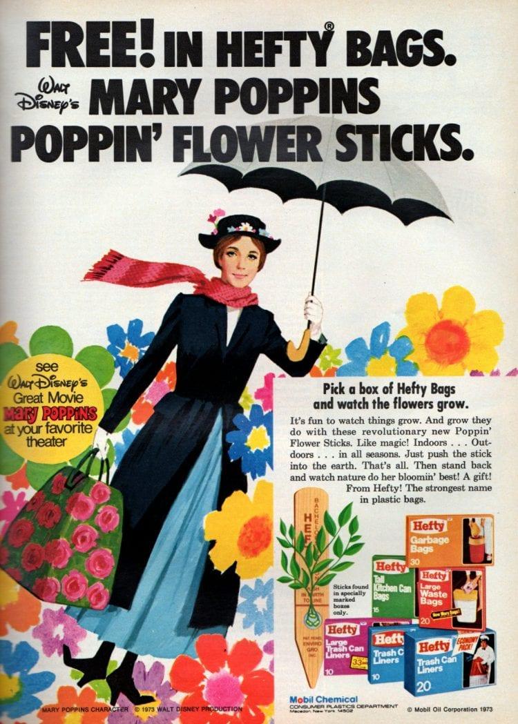 Walt Disney's Mary Poppins Poppin' Flower Sticks 1973