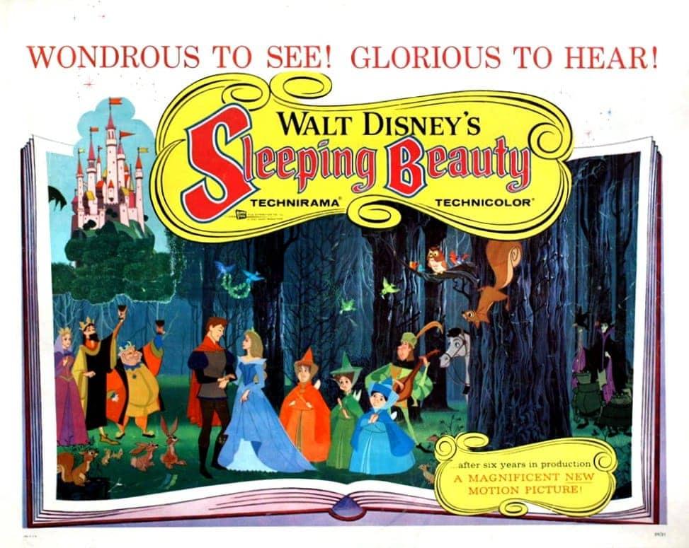 Walt Disney's Sleeping Beauty - Lobby promo card from 1959