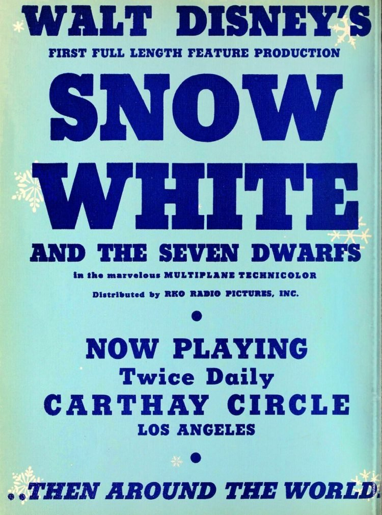 Walt Disney's Snow White movie debuts - 1938 (1)