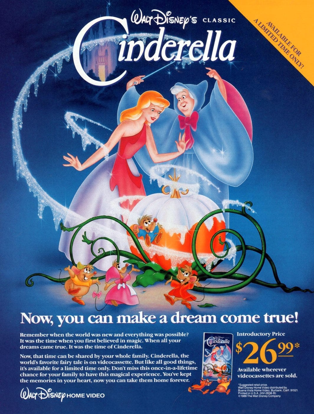 Walt Disney's classic Cinderella (1987)