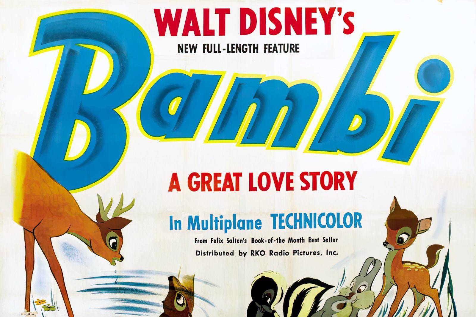 Walt Disney's classic movie Bambi (1942)