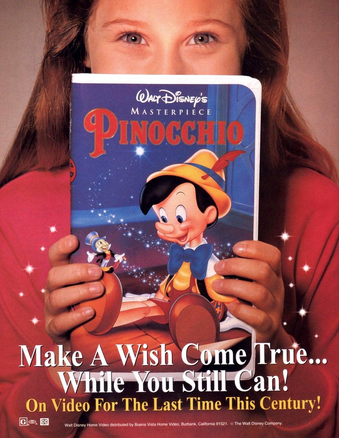 Walt Disney's masterpeice Pinocchio on home video (1993)