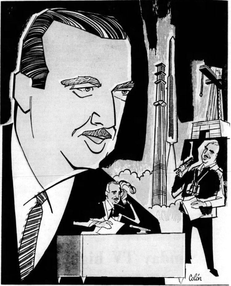 Walter Cronkite illustration 1962