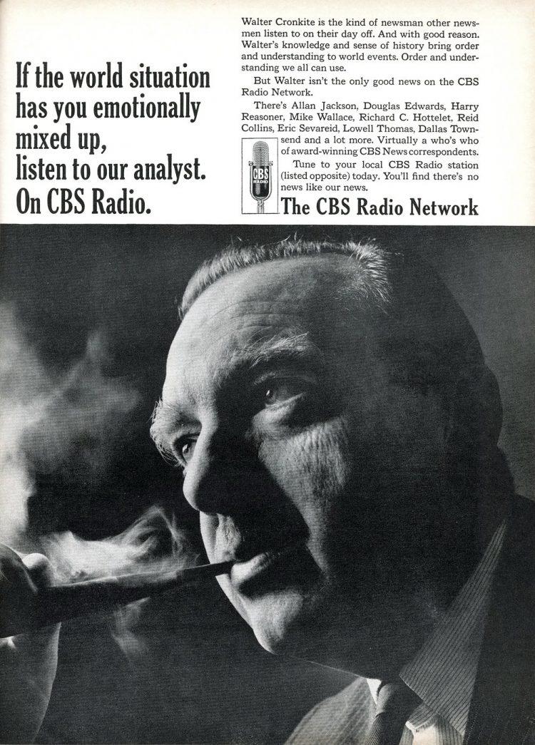 Walter Cronkite on CBS radio - 1966