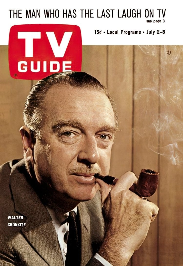 Walter Cronkite on TV Guide magazine 1966-gigapixel-width-750px