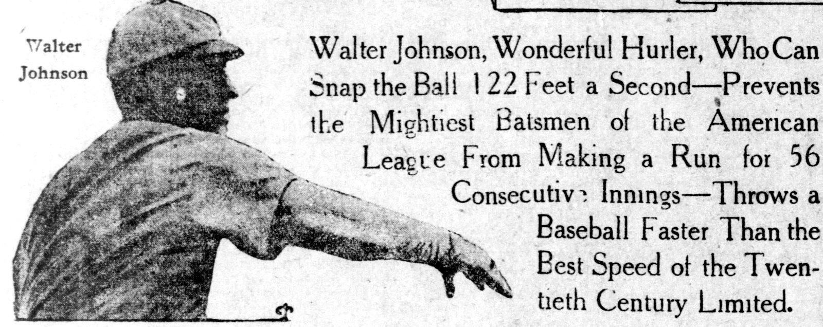 Baseball pitcher Walter Johnson
