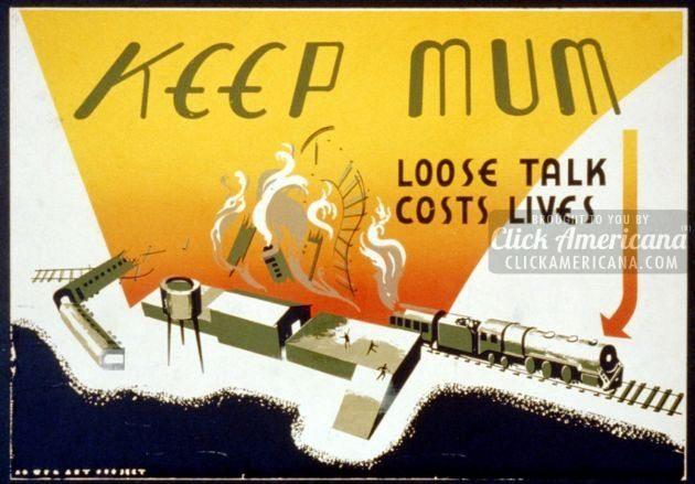 War don't talk posters - quiet (3)