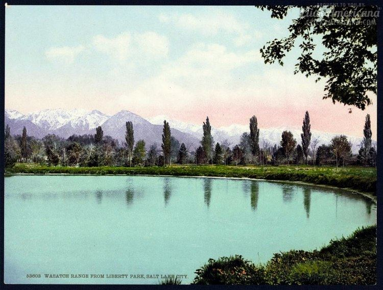 Wasatch Range from Liberty Park, Salt Lake City in 1900