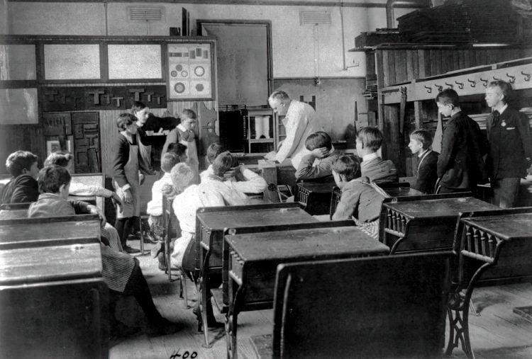 Washington, D.C., public schools - carpentry class