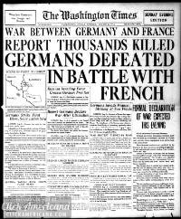 Headlines from the very start of WWI (1914) - Click Americana