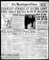 Washington times., August 12, 1914
