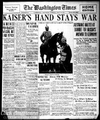 Washington times., July 29, 1914