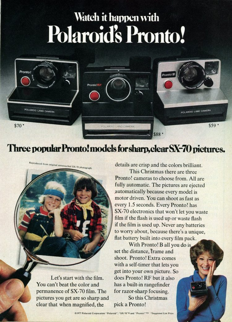 Watch it happen with Polaroid's Pronto (1977)