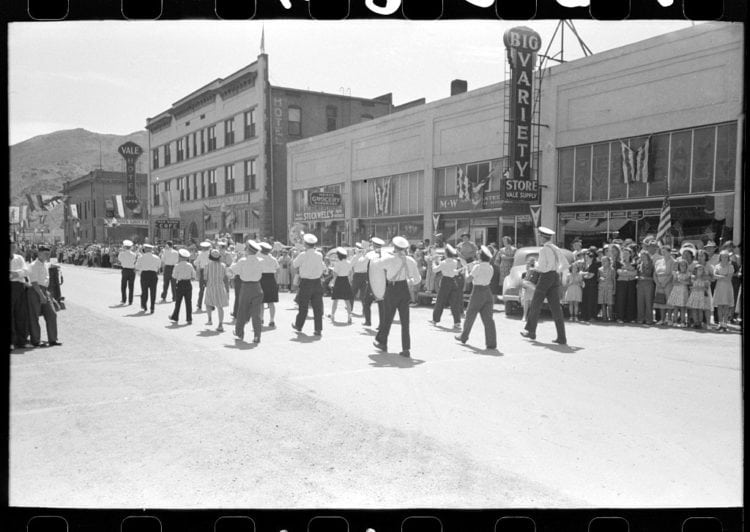 Watching the Fourth of July parade 1941