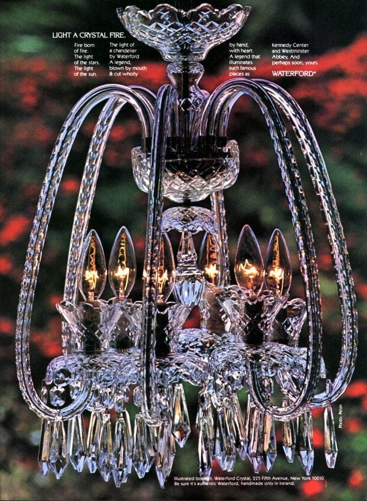 Waterford vintage 80s handmade crystal chandelier