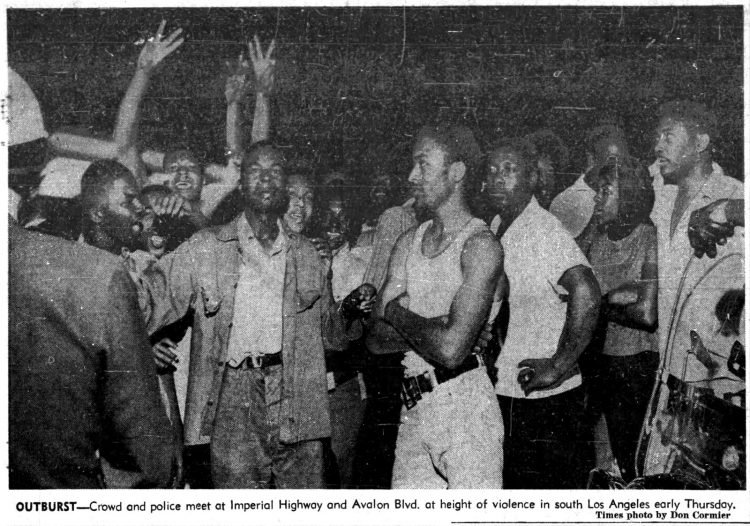 Watts riots - Historical newspaper stories August 13 1965 (2)