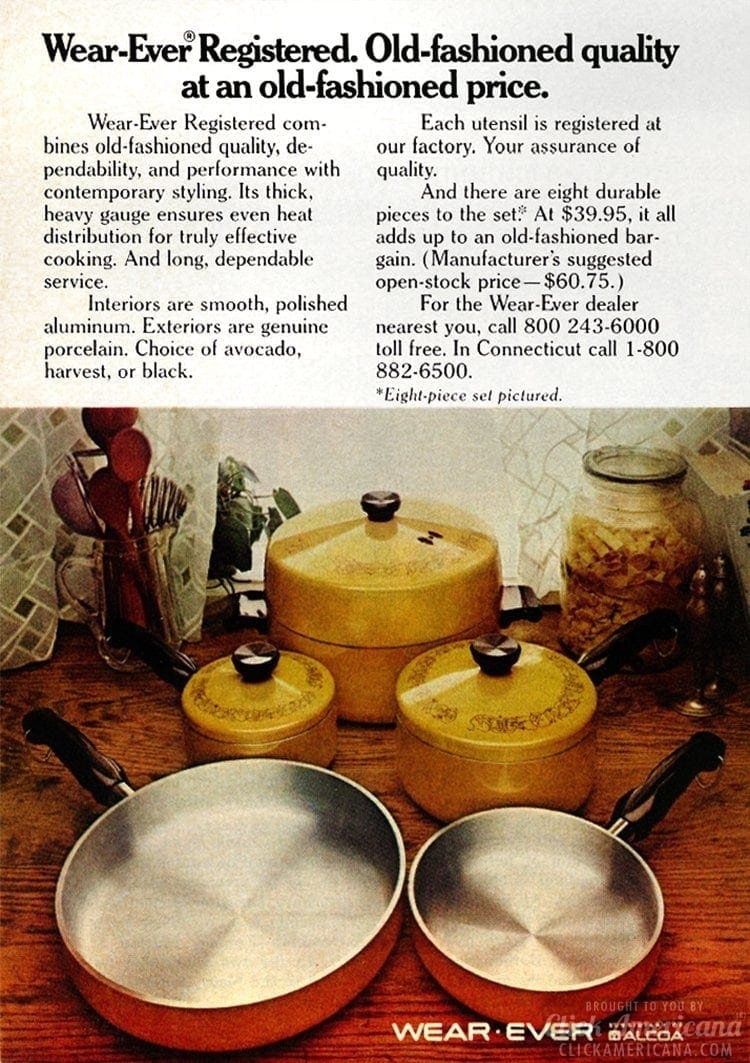 Wear-Ever Cookware from 1973