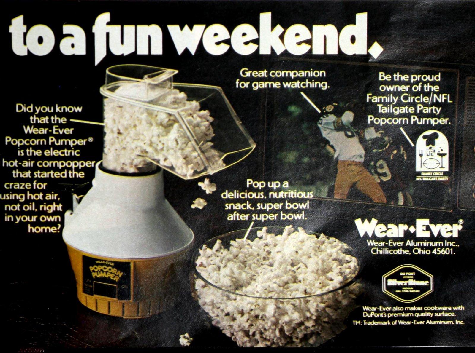 Wear-Ever -- Popcorn Pumper popcorn machine (1979)