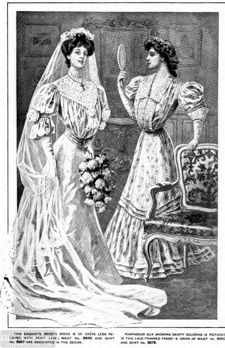 Wedding dress from 1905