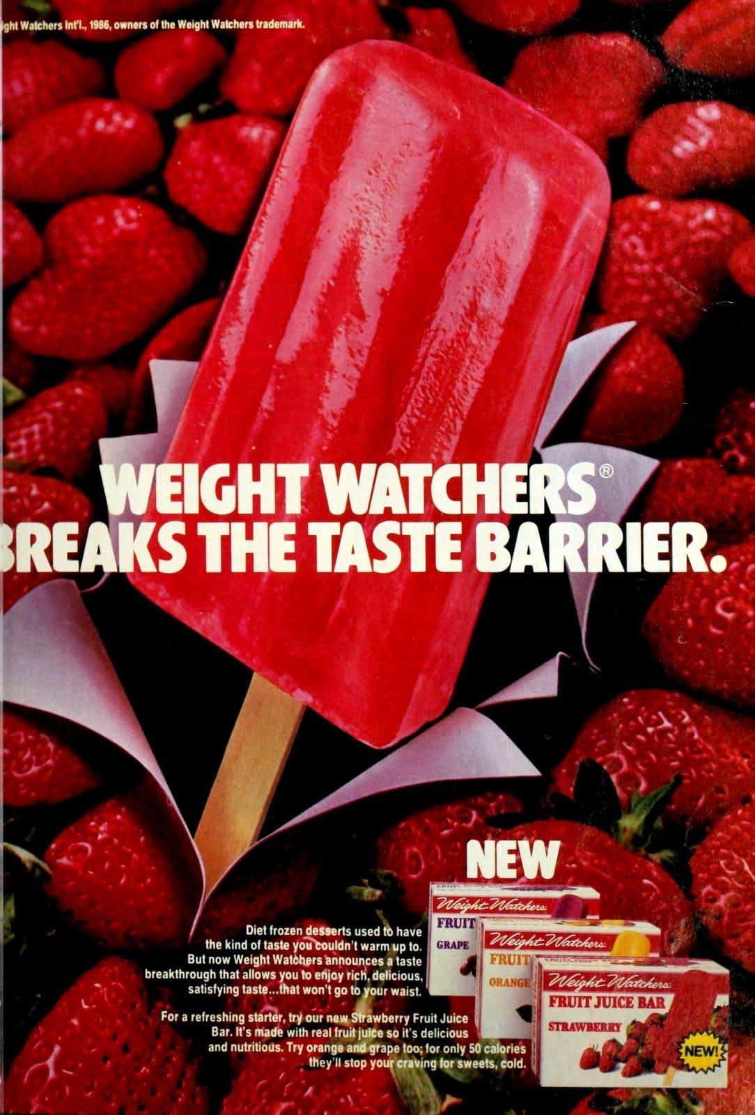Weight Watchers strawberry juice pops (1986)