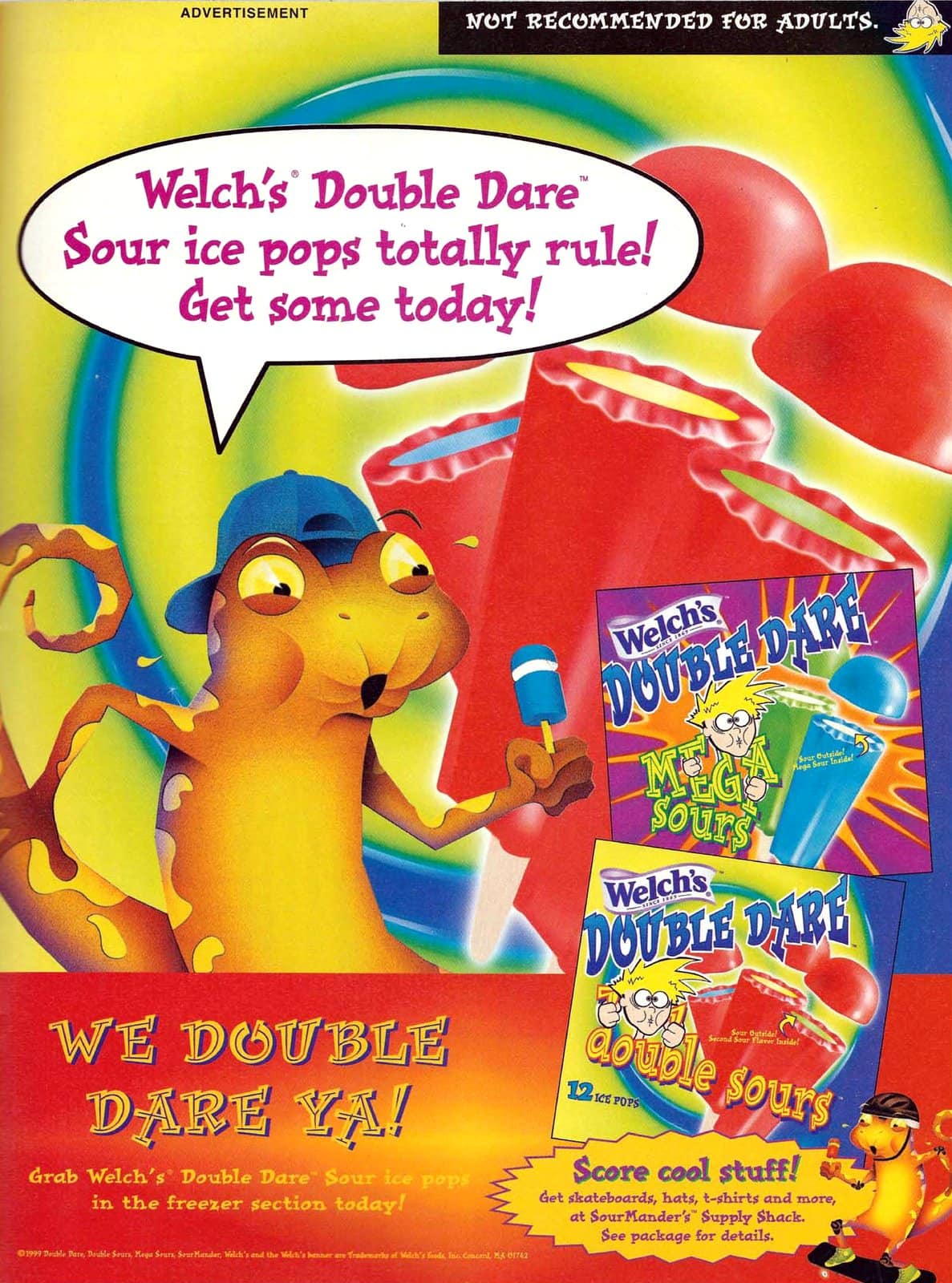 Welch's Double Dare ice pops (1999)
