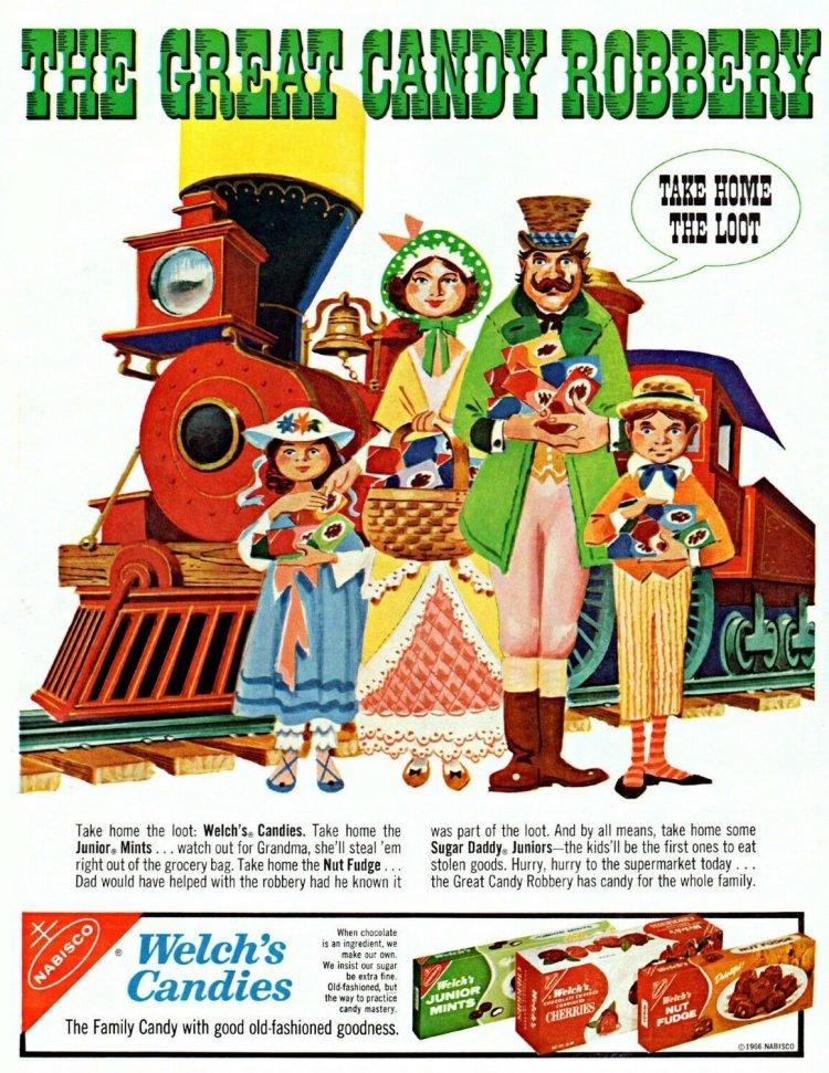 Welch's candies from the 1960s
