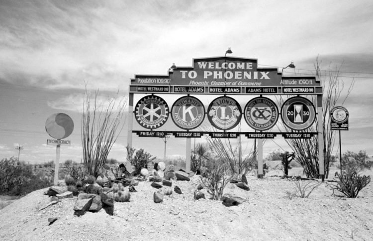 Welcome to Phoenix sign - 1940
