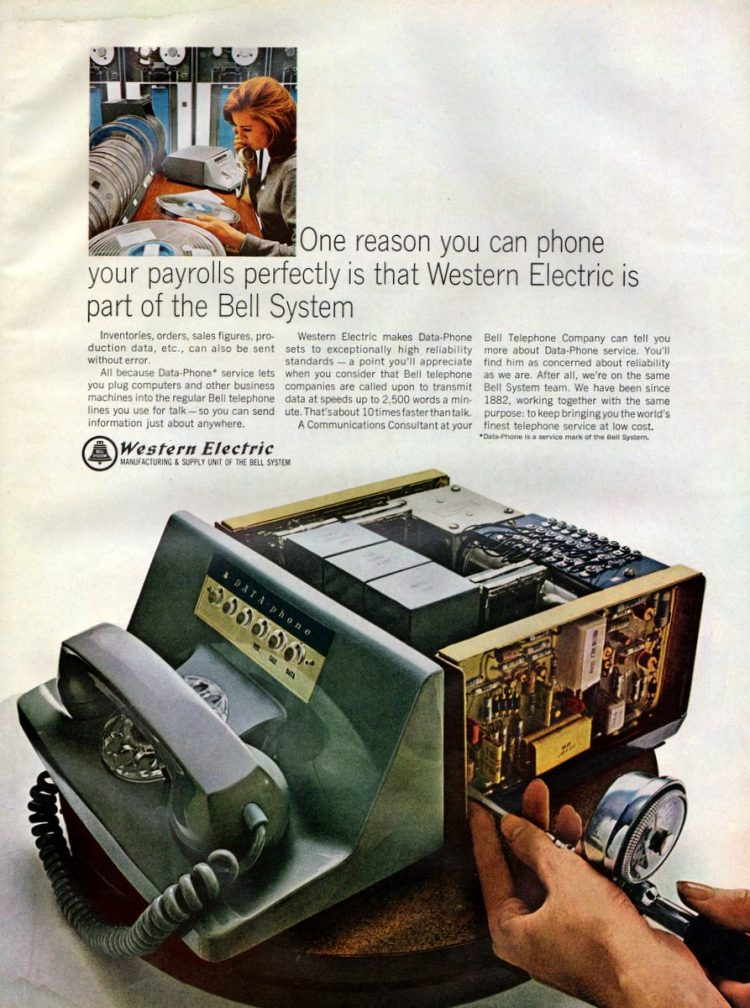 Western Electric - phone your payrolls perfectly 1966
