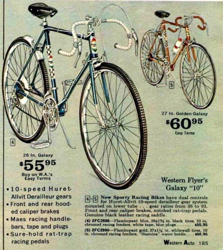 Western Flyer Galaxy 10 bike - 1967