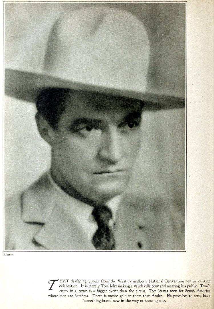 Western movie star Tom Mix in the 1920s