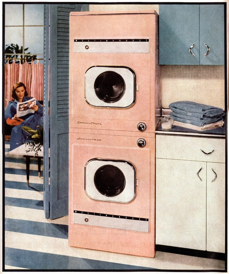 Westinghouse laundry Washing machine & dryer (1956)