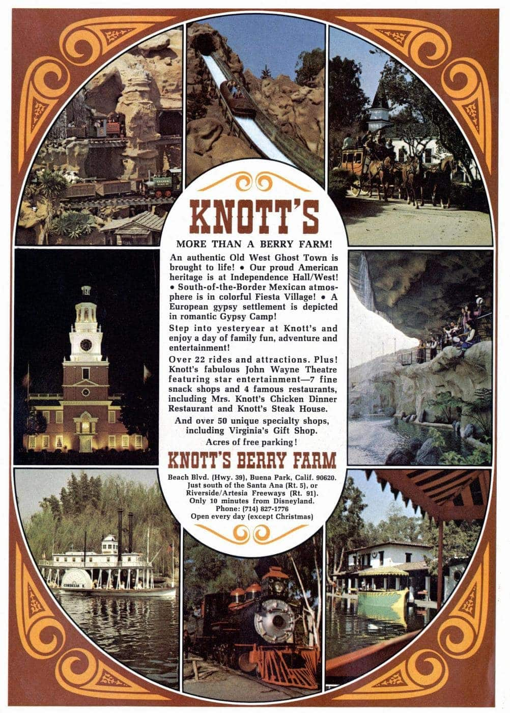What Knott's Berry Farm looked like in 1973